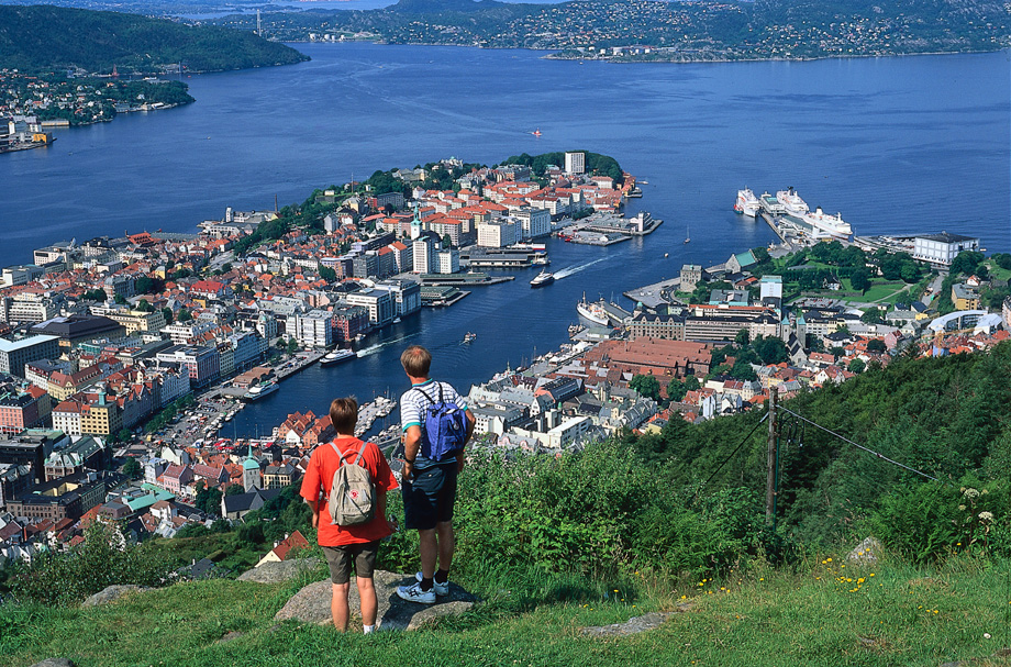 Hike at Mount Fløyen